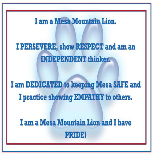 Mesa Mountain Lion Motto
