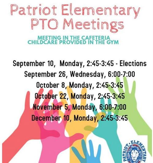 Picture of PTO meetings flyer